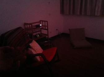 Playroom, projector, boxee and surround sound