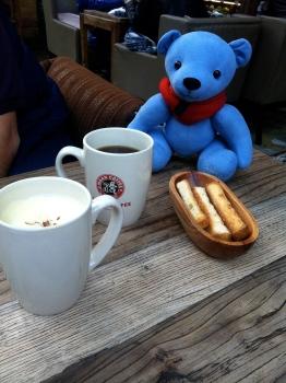 Mann's Coffe for breakfast, with a creamy pumpkin latte