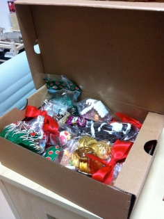 Christmas goodies received in a lovely St Regis hamper