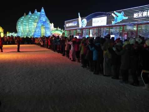 A massive line dance