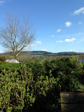 View from gran and grampy's in Brewham