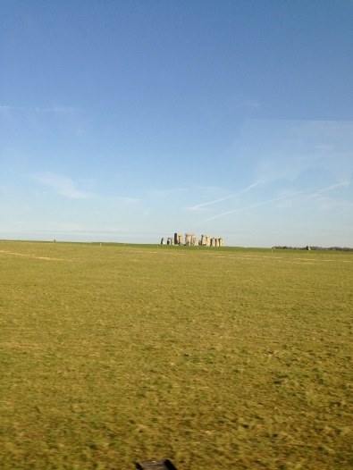 View from the bus up to London: Stonehenge