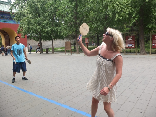 A little game in the Temple of Heaven
