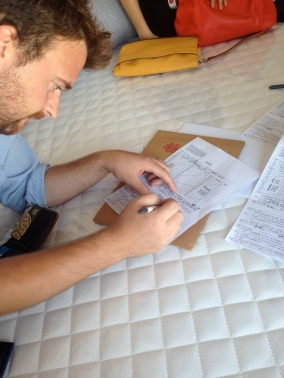 Signing on the dotted line