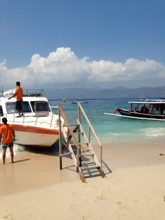 Our fast boat to and from the island