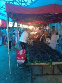 Market shopping on Sunday morning