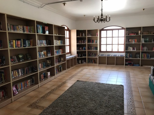 young adult book room upstairs, quiet reading area in the room next door