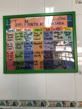 Septembers story time schedule