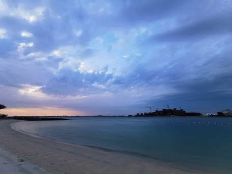 Al Muneera beach at sunset